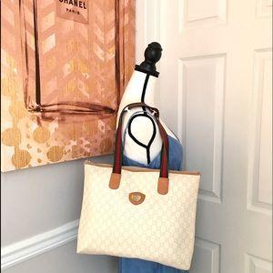 Authentic Gucci Plus white monogram large tote bag